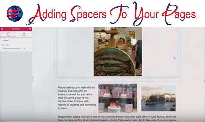 Adding Spacers to Your Pages