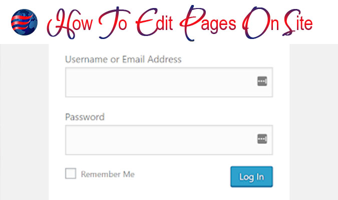 How To Edit Pages On Site