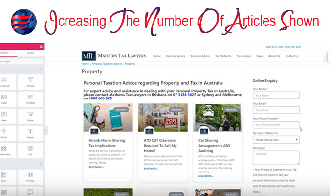 Pages Increasing the number of Articles Shown